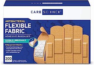 باندهای چسب پارچه ضد باکتری Care Science ، اندازه های متنوع 200 سی تی | محافظت از طریق تنفس انعطاف پذیر به جلوگیری از عفونت برای کمک های اولیه و مراقبت از زخم کمک می کند