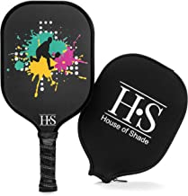 House of Shade Pickleball Paddle Graphite Face with Honeycomb Polypropylene Core - Protective Neoprene Cover - Cushioned Grip Wrap for Mastery and Feel - Perfect Weight for Driving & Ball Control