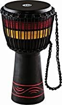 """Meinl Percussion ADJ7-M Series Rope Tuned Inch Wood, Black, 10"""" African Style Fire Rhythm Djembe, 10"""" x 20"""""""