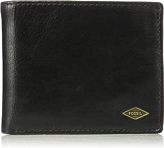 Fossil Men's Ryan Leather RFID Blocking Bifold Flip ID Wallet