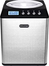Whynter ICM-201SB Upright Automatic Ice Cream Maker 2 Quart Capacity Stainless Steel with Built-in Compressor, no pre-Free...