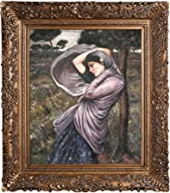 overstockArt Boreas Framed Oil Reproduction of an Original Painting by John William Waterhouse, Burgeon Gold Frame, Organi...