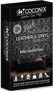 Coconix Black Leather Repair Kits for Couches - Vinyl & Upholstery Repair Kit for Car Seats, Sofa & Furniture - Liquid Scr...