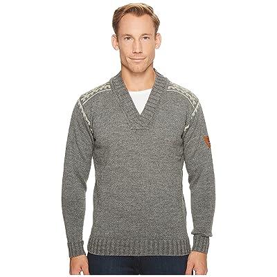 Dale of Norway Alpina Masculine Sweater (E-Smoke/Light Charcoal) Men