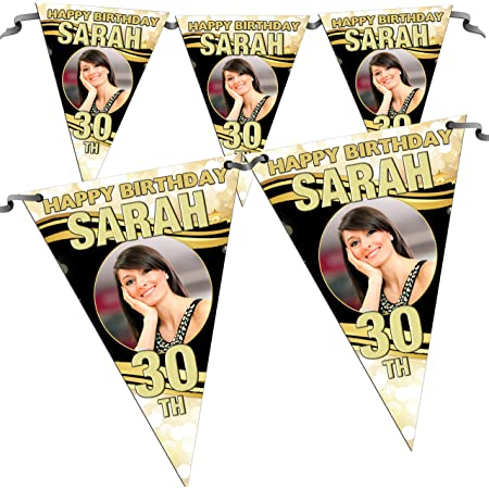 Personalised Birthday Banner Poster Party Celebration PresentA4 A3 A2 A1
