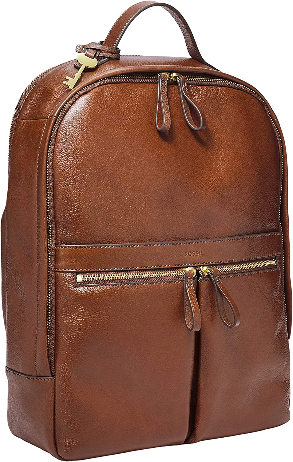 Fossil Women's Tess Leather Laptop SEAL limited product wholesale Backpack Brown Handbag Purse