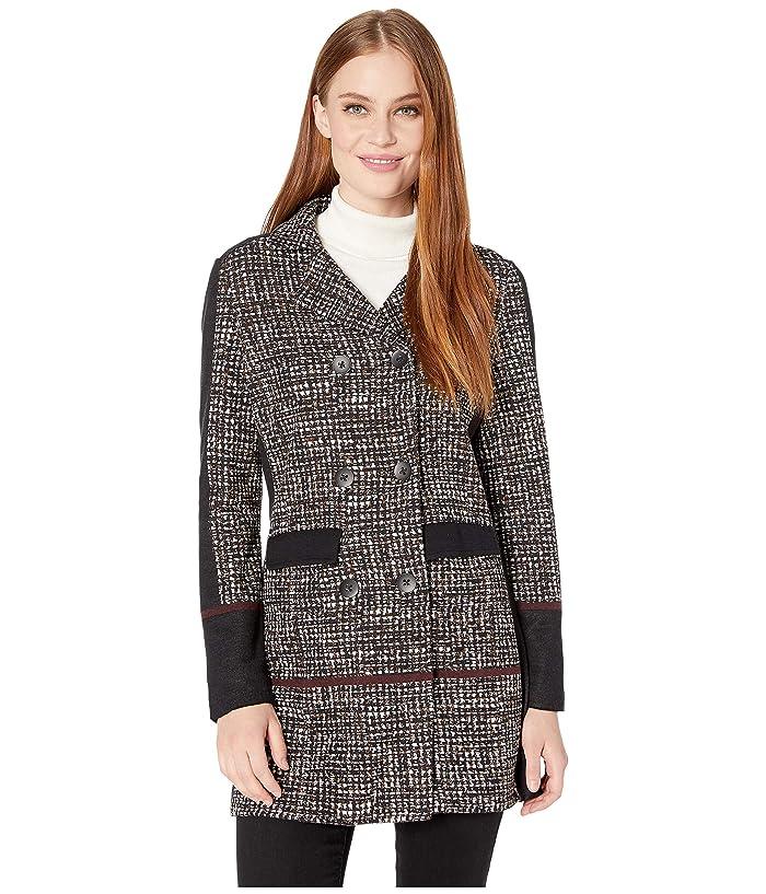 NIC+ZOE  Abstract Tweed Jacket (Multi) Womens Coat