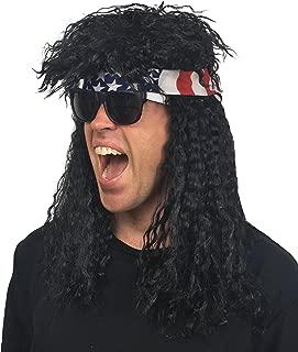 black rockstar wig