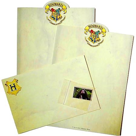 Amazon Com Hogwarts Carta De Papel De Pergamino Kit 2 Hojas De Texto 1 Sobre 1 Usps Harry Potter Postage Stamp Office Products