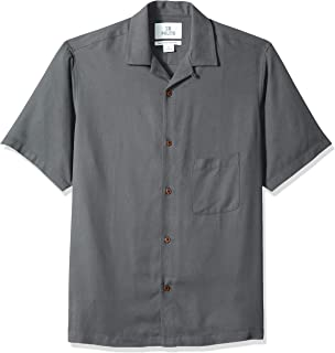 Amazon Brand - 28 Palms Men's Relaxed-Fit 100% Silk Camp Shirt