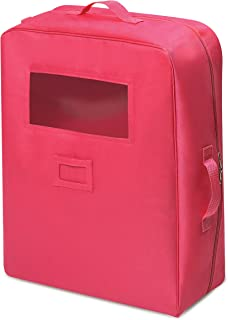 Badger Basket Double Doll Travel Case with Bunk Bed (fits American Girl Dolls), Dark Pink