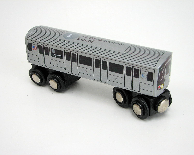 Munipals Wooden Railway NYC Subway Car L