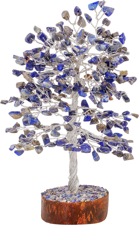 FASHIONZAADI Lapis Lazuli Feng Shui Choice Bonsai safety Money Healing Tree Cr