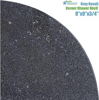 Stella Gray Basalt Corner Shower Shelf 9