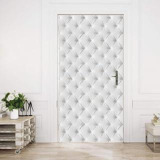 murimage Papel Pintado Cuero Blanco 86 x 200 cm Incluye Pegamento Fotomurales óptica 3D Diamantes Brillo Acolchado Dormitorio