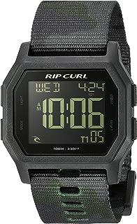 Rip Curl Men's Quartz Sport Watch with Silicone Strap, Black, 24.3 (Model: A3087CMO1SZ)