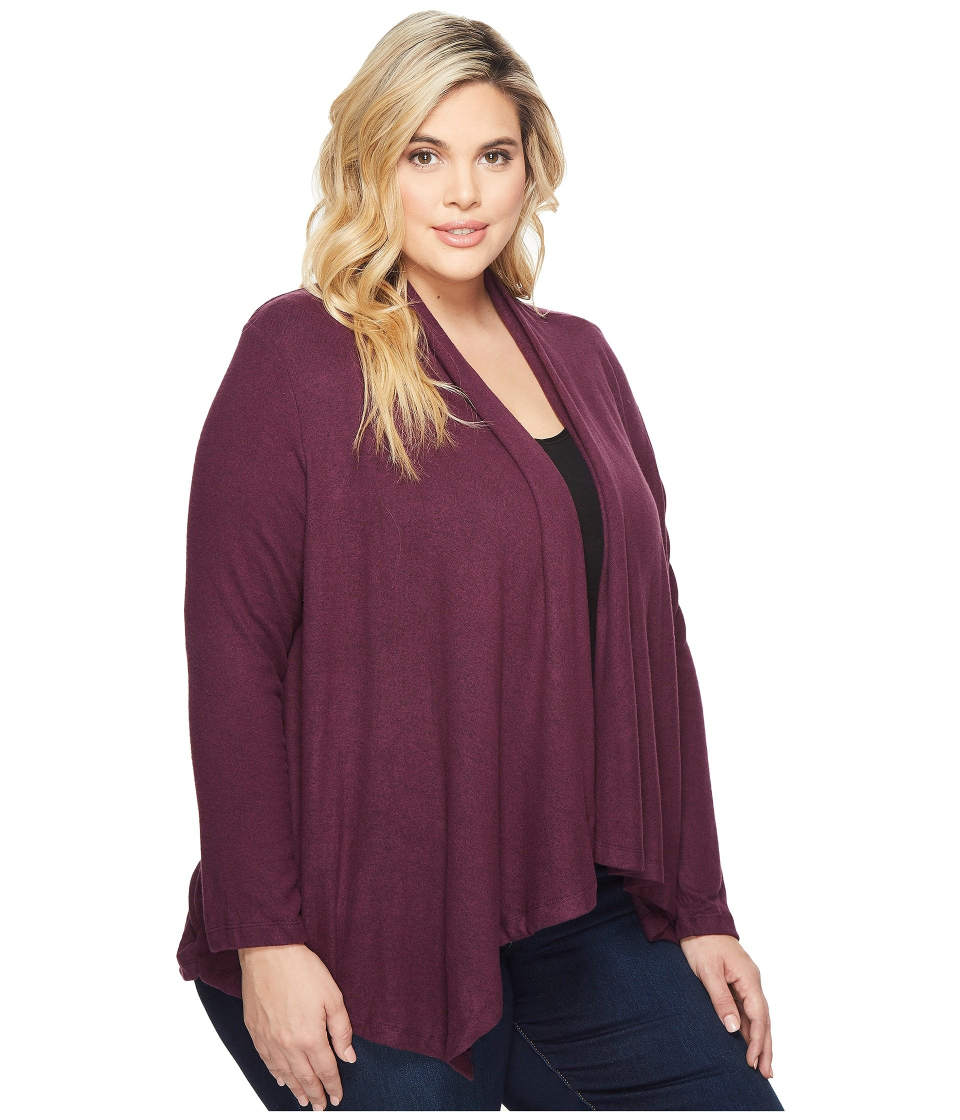 B Collection by Bobeau Plus Size Amie Waterfall Cardigan at Zappos.com