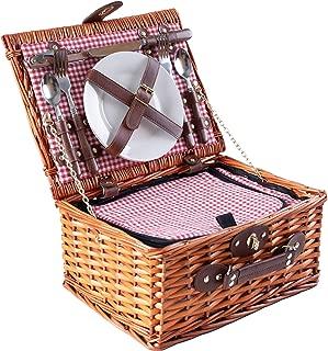 manta picnic accesorios picnic Pastos cesta de picnic cubiertos + vajilla