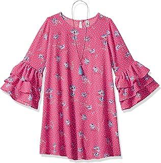 فستان بناتي بتصميم متمايل كبير من Beautees