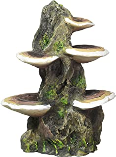 Penn Plax Mushrooms on Rock Aquarium Ornament - Medium - 5.5L x 4W x 7.5H in.