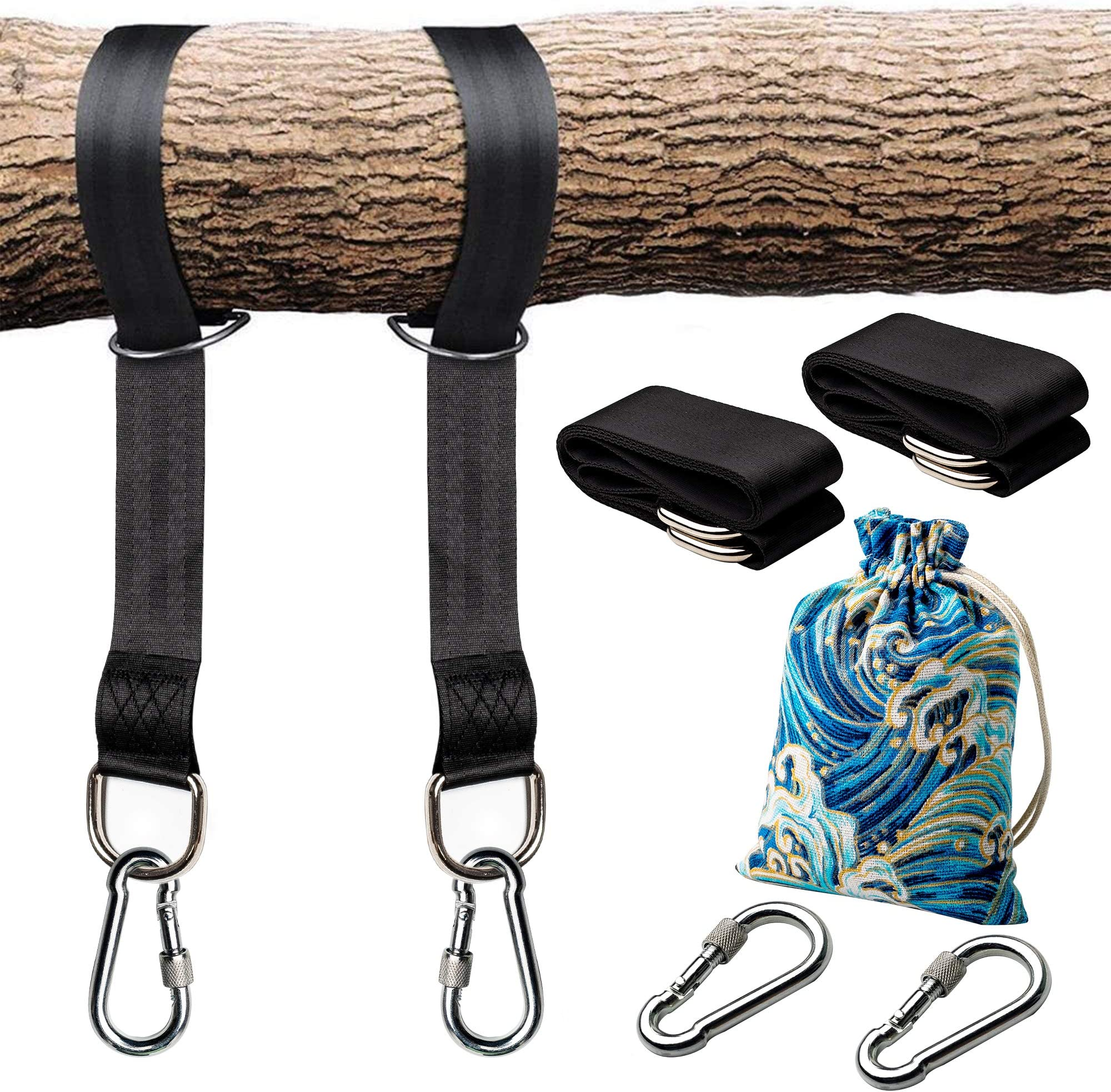 Tree Swing Straps Hanging Kit Two Straps Extra Long w// Safer Lock Width 50mm