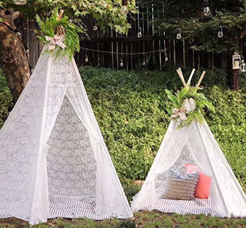 wholesale Tiny online sale Land Huge Lace Teepee popular and Green Wreath Bundle online sale