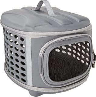 Pet Magasin Hard Cover Collapsible Cat Carrier - Pet Travel Kennel with Top-Load & Foldable Feature for Cats, Small Dogs P...