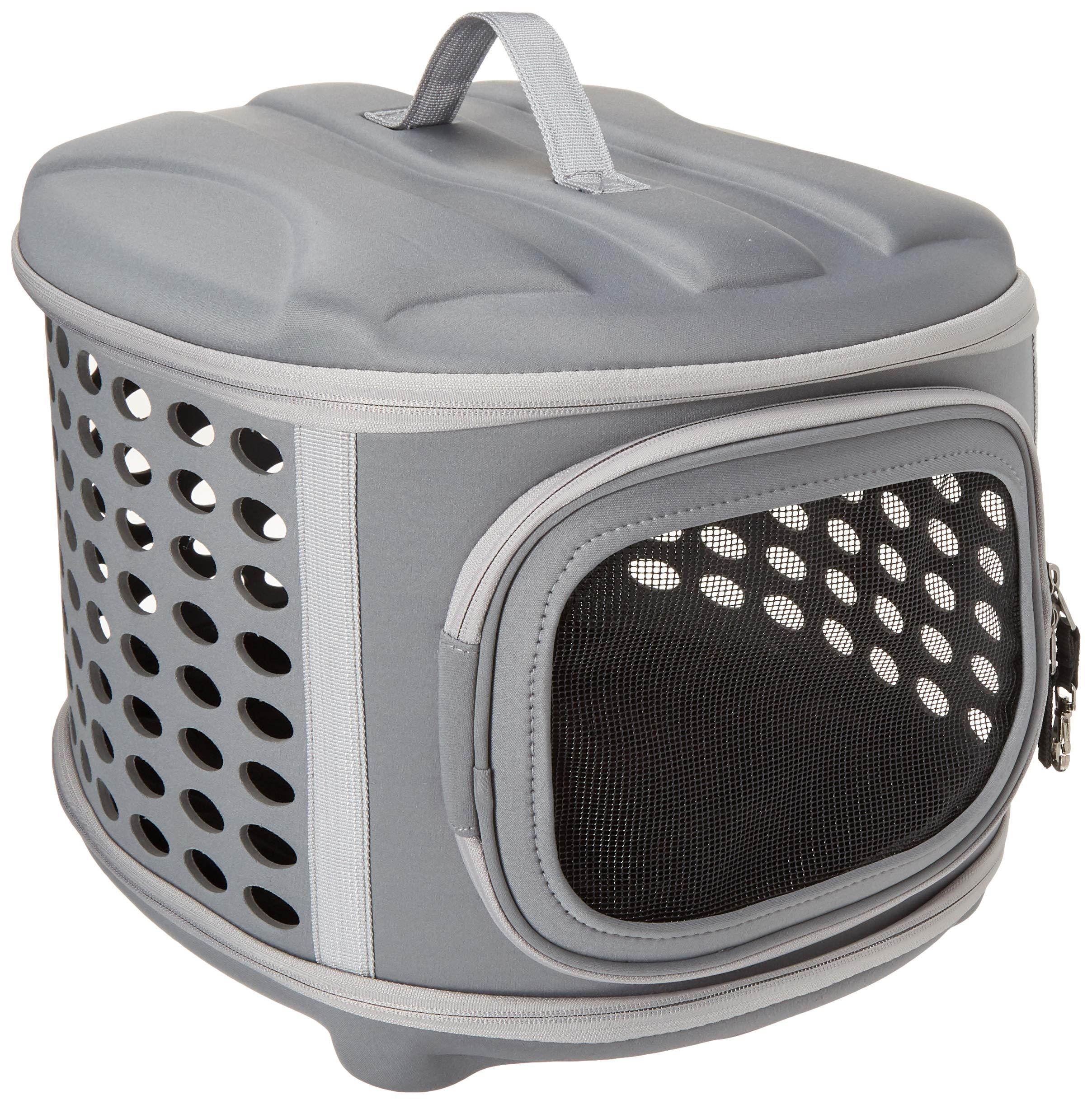PET MAGASIN Transportador de Viaje para Gatos Perros - Acolchado y Plegable con Puertas de Malla para una ventilación óptima (En avión): Amazon.es: Productos para mascotas