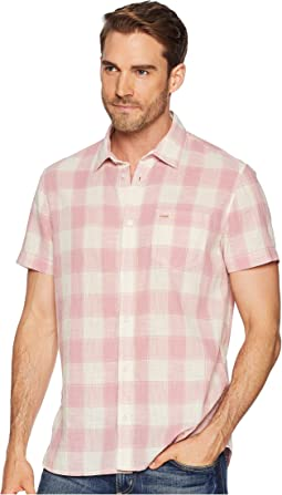 Short Sleeve Gauze Check Button Down