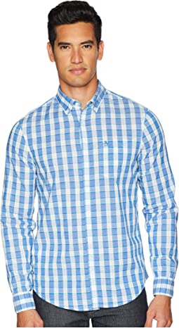 Original Penguin Long Sleeve Nep Plaid Stretch