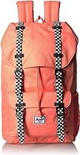 حقيبة ظهر للأطفال الصغار من Herschel Little America ، مطاط سالمون/الشطرنج الطازج، مقاس واحد
