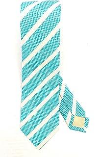 Errico Formicola cravatta sette pieghe a righe in seta e cotone