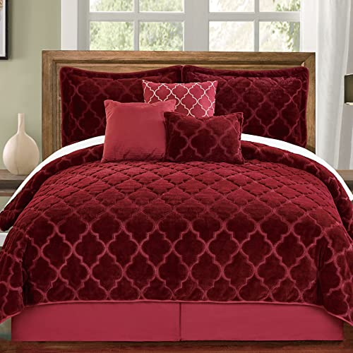 Burgundy Quilt Bed Set Amazon Com