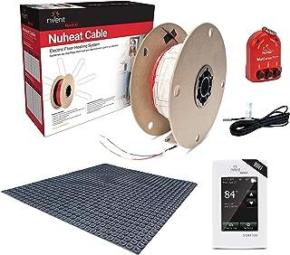 NuHeat N1C060-S-KIT 60 sq ft Signature Comfort Floor Heat Kit with Signature Thermostat, Heat Membrane, Heat Cable, MatSense Pro fault indicator…