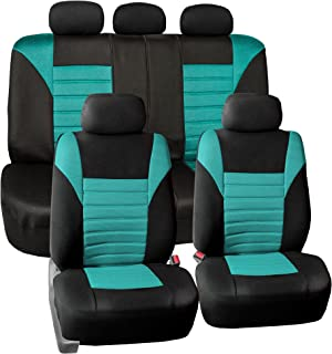 FH Group FB068MINT115 Mint Universal Car Seat Cover (Premium 3D Air mesh Design Airbag and Rear Split Bench Compatible)