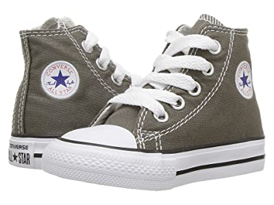 Converse Kids Chuck Taylor(r) All Star(r) Core Hi (Infant/Toddler) (Charcoal) Kids Shoes