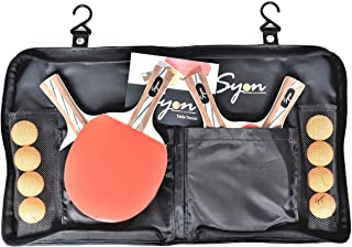 Ping Pong-Table Tennis paddle set of 4 with 8 Professional Balls|Ping Pong Holder Carry Case with Hooks and Zipper|for Indoor and Outdoor.