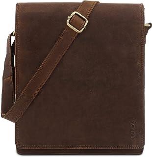 0b4587639ae68 LEABAGS London Umhängetasche Schultertasche 13 Zoll Laptops aus Leder im  Vintage Look
