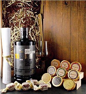 Geschenk Port Charlotte 10 Jahre Single Malt Whisky  Glas  Edelschokolade  Fudge