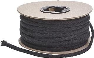 Leather Cord USA Premium Cotton Braided Bolo Cord 11 yd 3002 Black Spool 10 Meter 3mm