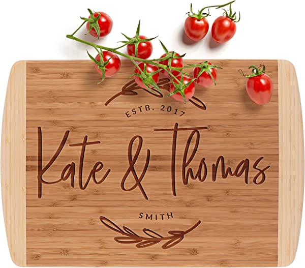 Personalized Cutting Board 12 Designs 2 Sizes Bamboo Cutting Board Wedding Gifts For The Couple Housewarming Gift Kitchen Sign 2 Tone Block Board G