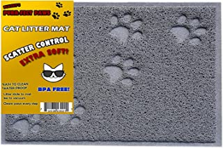 BPA Free Premium Quality Cat Litter Mat - Food Mat - Small Cat Litter Mat Catcher Trapper with Scatter Control - Waterproof Litter Mat-Odor Repelling- Soft on Cats Paws