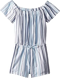 Line Of Sight Off the Shoulder Romper Cover-Up (Big Kids)