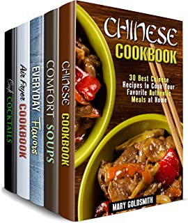 Recipes with a Twist Box Set (5 in 1): Over 150 Chinese, Soup, Air Fryer Authentic Meals Plus Flavors and Cocktails (Traditional & Authentic)