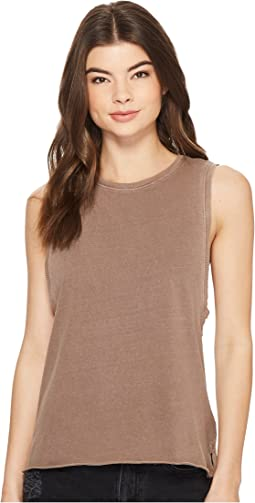 Washed Biker Tank Top