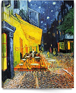 DecorArts - Cafe Terrace At Night, by Vincent Van Gogh. The Classic Arts Reproduction. Art Giclee Print On Canvas, Stretched Canvas Gallery Wrapped. 24x30