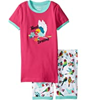 Hatley Kids - Tropical Birds Short Pajama Set (Toddler/Little Kids/Big Kids)