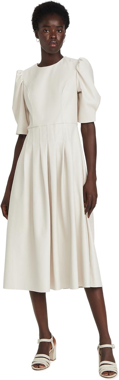 En Saison Women's Faux Leather Midi Dress