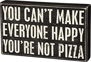 Primitives by Kathy Classic Box Sign, 10 x 6-Inches, Not Pizza