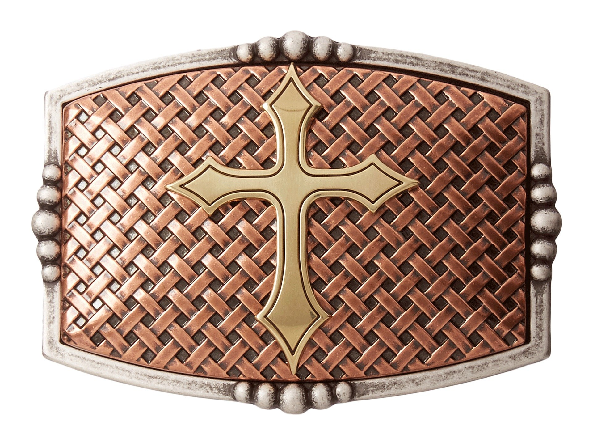 MF Western Rectangle Basketweave Cross Buckle At Zappos